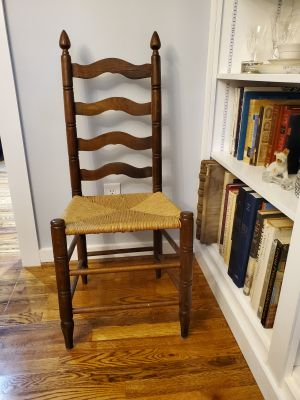 Vintage, Ladderback, Dining Chairs, Woven Seat, 40.00 each