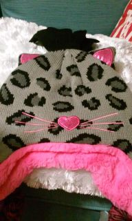 New Girl's Kitty Hat and Gloves