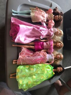 5 Barbie Dolls, Great Condition