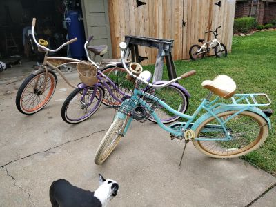 2 Adult & 1 Young Adult bikes