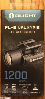 For Sale: Olight PL-2 Valkyrie 1200 lumen Weapon Mounted Light