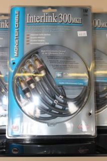 Monster Cable 300 Series RCA Audio InterLink Cable 1m