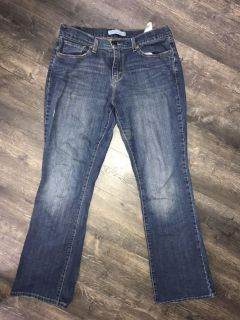 Levi s bootcut distressed jeans. Size 10.