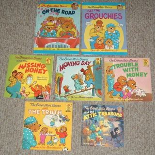 lot of 7 vintage 1980s 1990s berenstain bears illustrated picture books 2hc 5sc