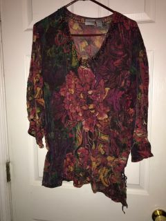 Chico s size 3 Sheer Blouse