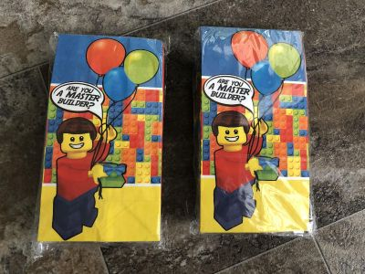 Two unopened Lego party favor packs
