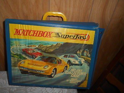 Vintage 1970s Matchbox Car Carrying Case + 50 Diecast Matchbox Vehicles!