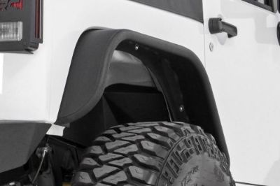 Purchase Rough Country Jeep Tubular Rear Fender Flares Set 07-16 Wrangler JK motorcycle in Newbern, Tennessee, United States, for US $349.95
