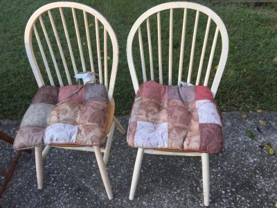 Two Chairs and Two Cushions.