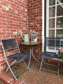 Distressed porch seating