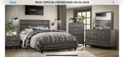 INVENTORY BLOWOUT! QUALITY GREY QUEEN 4PC BED SET!