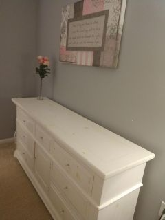 Large solid wood Broyhill dresser