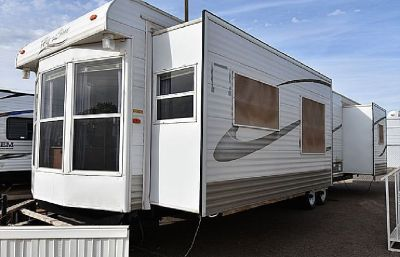 2008 HY-LINE DESTINATION TRAILER 3 SLIDES *WASHER+DRYER*
