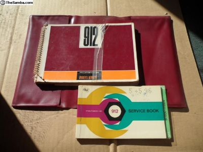 1967 912 Porsche Owners Manual + Service Book