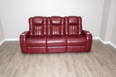 Red Electric sofa recliner!! EXCELLENT CONDITION!!
