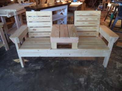 Double Chair Table Bench