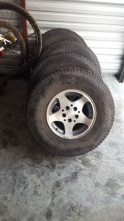 Jeep Tires and Side Rails