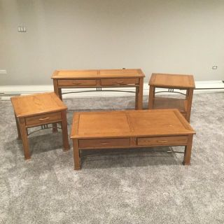 4 pc. Table Set -Solid Wood