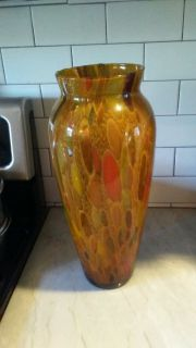 Beautiful Brown Striped Vase Perfect for any room
