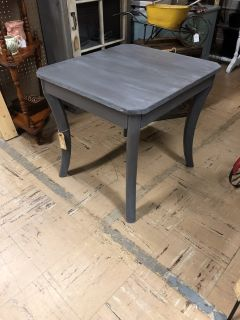 Gray Whitewashed End Table
