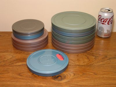 Lot of 13 8mm Movie Film Projector Reels and Storage Cans