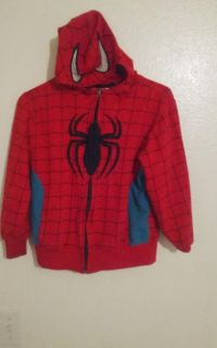 Marvel Spiderman hoodie with zipper for boys size 8