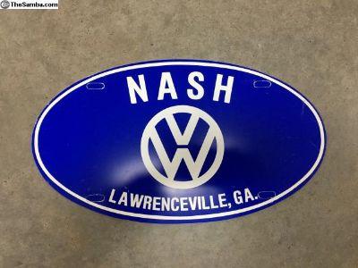 NOS Nash VW Lawrenceville GA plate