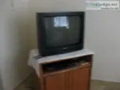 Mitsubishi TV Oak Cabinet
