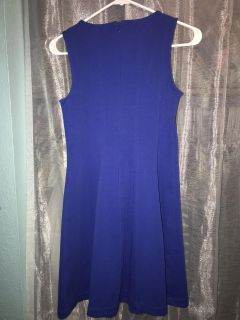 Blue form-fitted dress