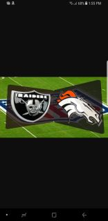 Raiders vs. Broncos. Two tickets in section 122. Great seats!!