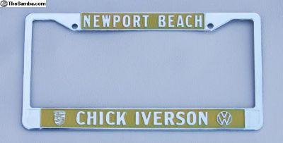 Chick Iverson Dealer License Plate Frame VW Prsch