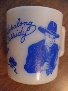 $12 Hopalong Cassidy Milkglass Mug 1950's (Midvale, Utah 84047)