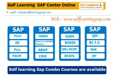 SAP all Courses Video's Available in SAP Self Learning Center at.