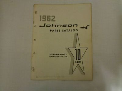 Purchase 1962 JOHNSON PARTS CATALOG 10 HP MOTORS @@@CHECK THIS OUT@@@ motorcycle in Atlanta, Georgia, United States, for US $14.99