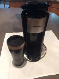 Black and Decker Single-Serve Coffee Maker w/16 oz. cup.