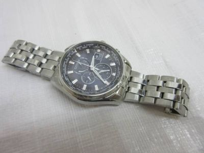 Citizen Eco Drive H820 Men's Watch World Time Quartz Stainless Steel