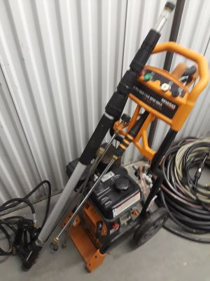 Power washer with accessories