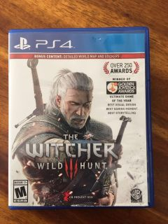 Witcher 3 Wild Hunt PS4 Witcher III Playstation 4