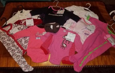 Baby girl clothing lot size 3/6 month