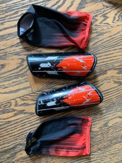 Adidas shin guards with sleeves