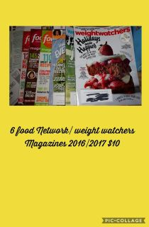 Food Network and weight watchers magazines