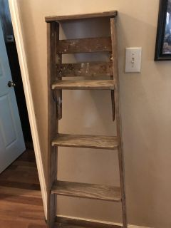 Old wooden ladder. Used for decorating