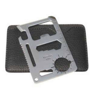 Survival or Camping Tool , Stainless Steel , Credit Card Size