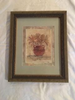 Picture of vase with flowers 16 3/4 H x 13 3/8W