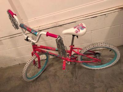 20 Huffy Girls bike, bought new, ridden very little