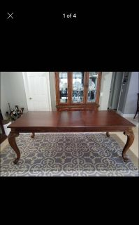 Formal dining table and matching hutch