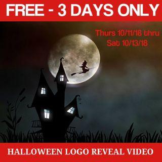 🎃 Free! Gratis! Halloween Business Logo Reveal