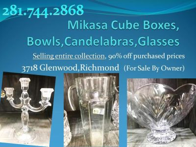 Crystal Glassware Sell Out! Entire collection. Dozens great gifts!