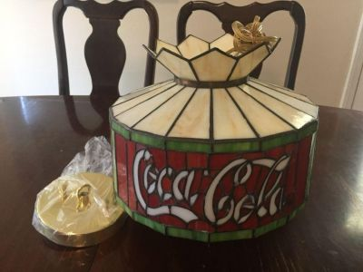 Antique Glass Coca-Cola Lamp