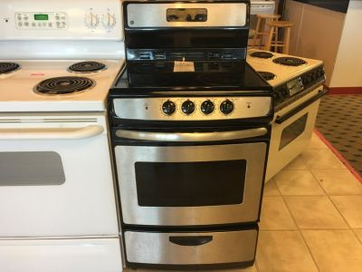 "GE 24"" Smooth Top Range Stove Oven - USED"
